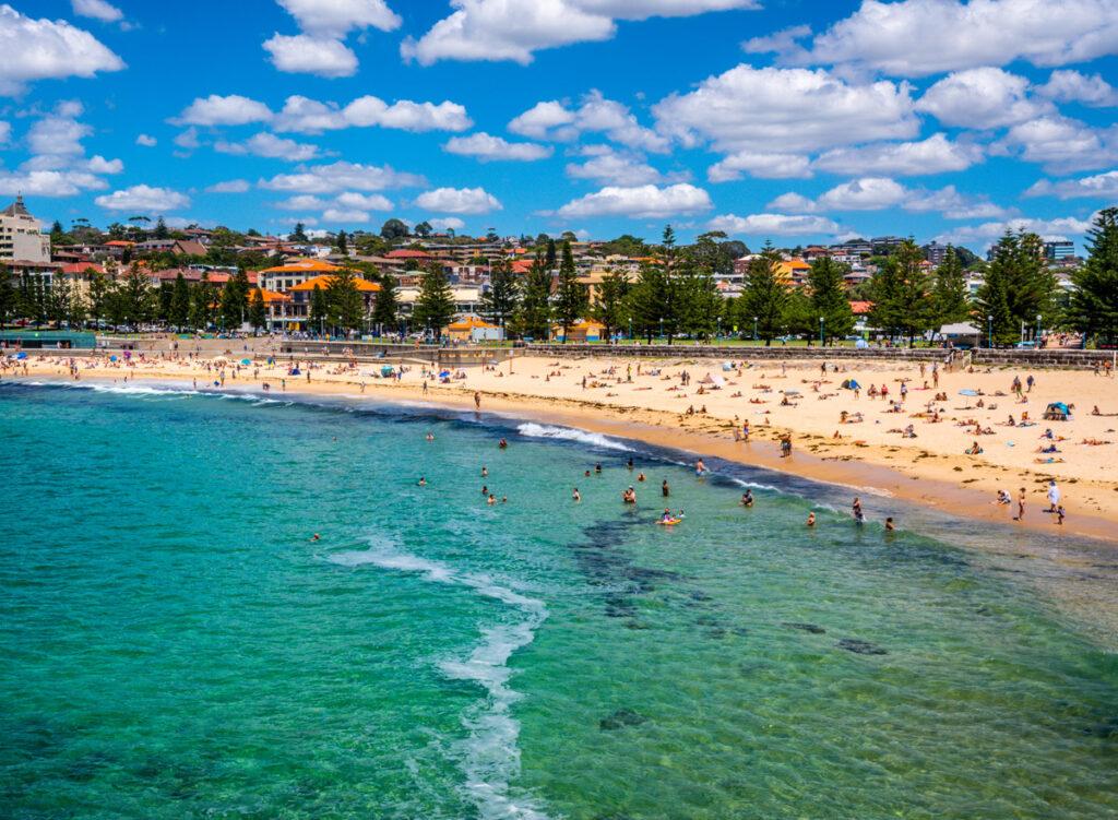 Coogee Beach Strand in Sydney Australien geöffnet