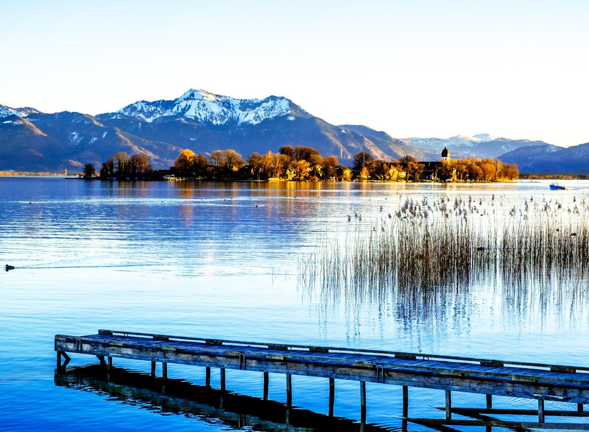 Chiemsee gehört zur bayrischen Karibik in Bayern und ist ein toller See