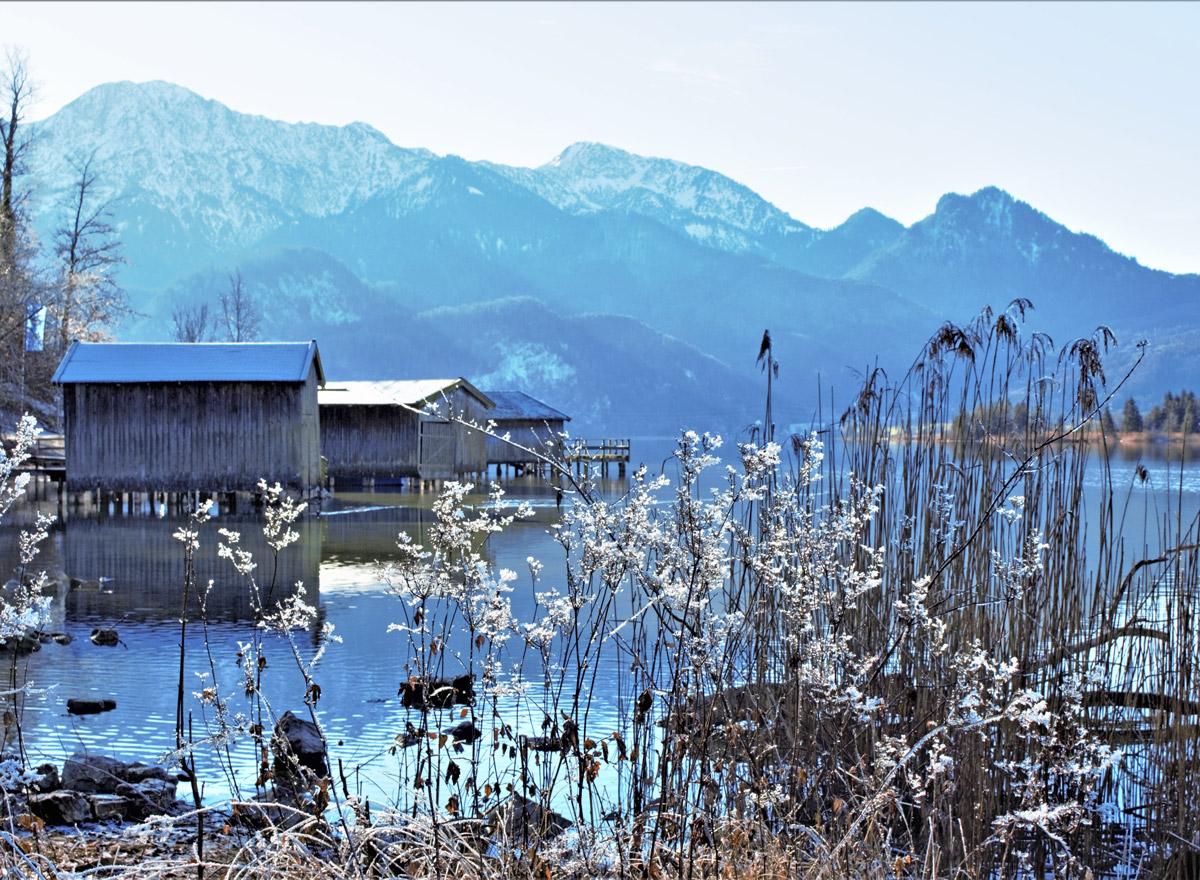 Der Kochsee ist im Sommer, wie auch im Winter einer der schönsten Seen in Bayern