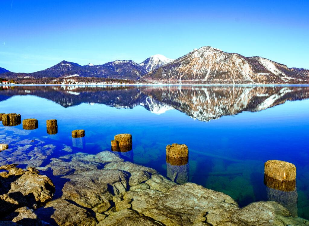 Der Walchensee ist einer der schönsten Seen in Bayern