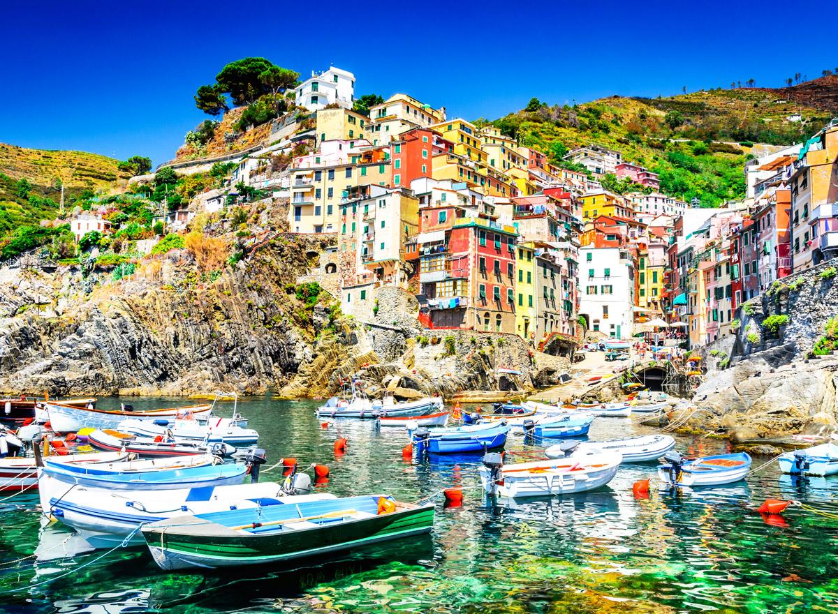 Riomaggiore ist der fünfte und letzte Ort von Cinque Terre