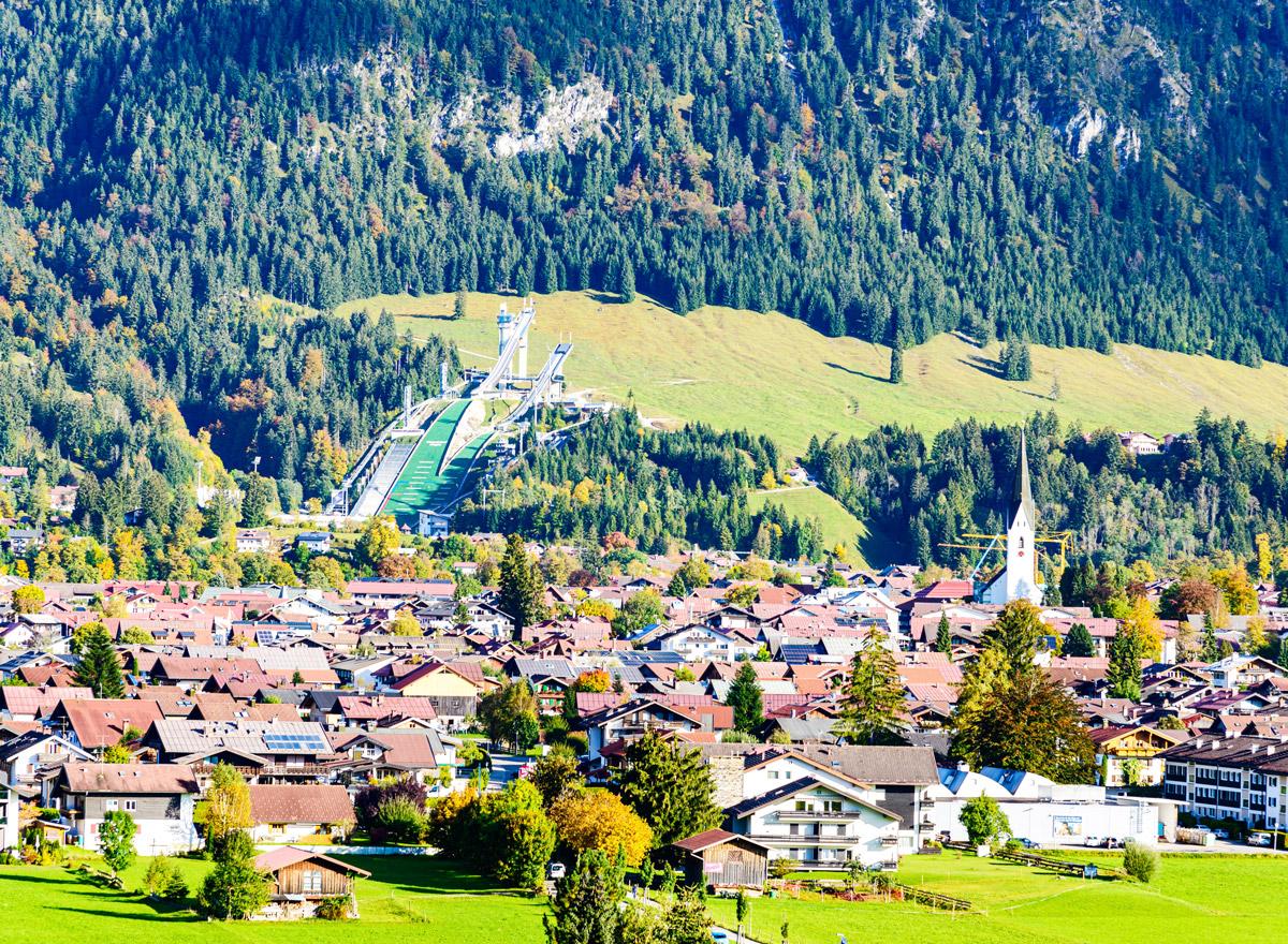 Obersdorf ist für den Wintersport bekannt