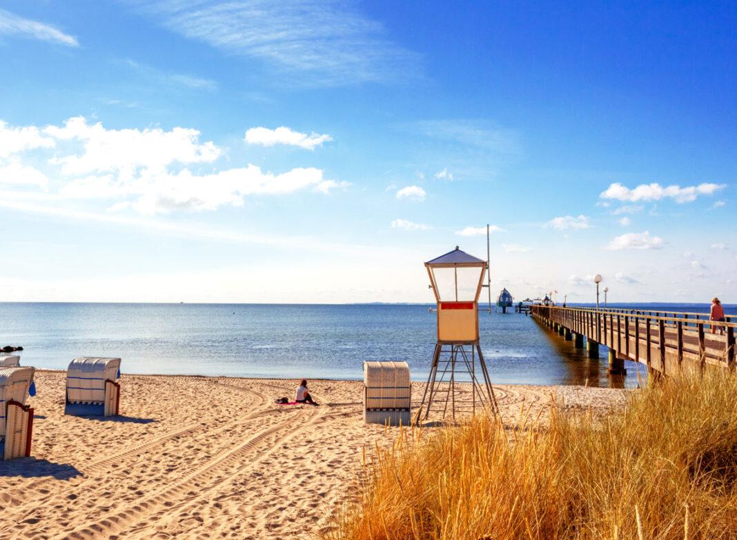 Grömitz Strand an der Ostsee: 8 km Urlaubsfeeling