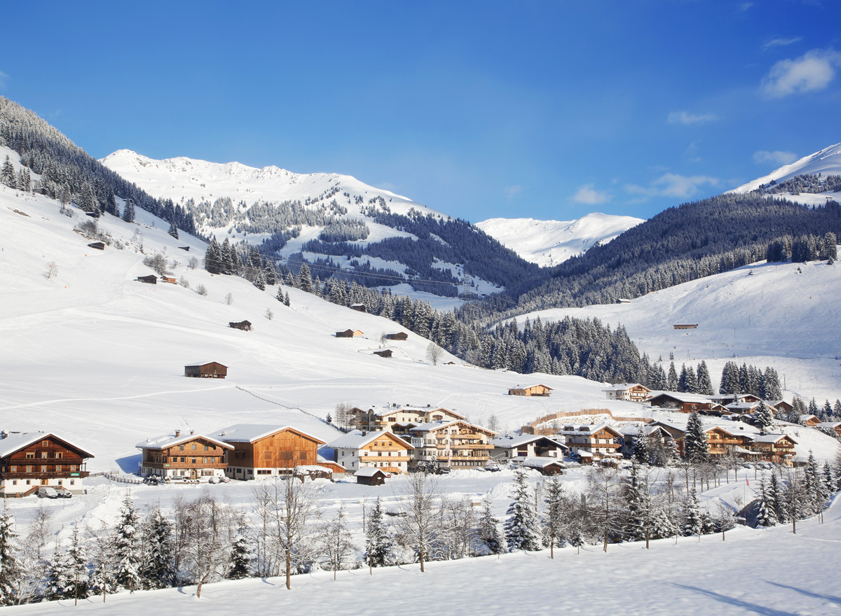 Im Zillertal liegt das Skigebiet Gerlos